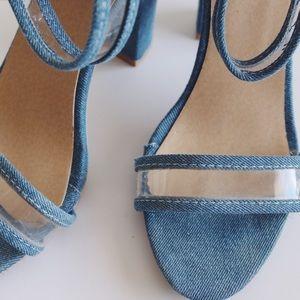 Shoes - Denim heels.